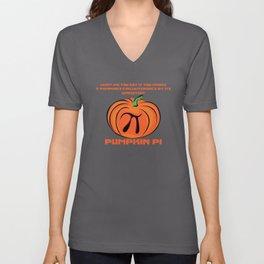 Pumpkin Pi Jack-O-Lantern Math Nerd Joke  Unisex V-Neck