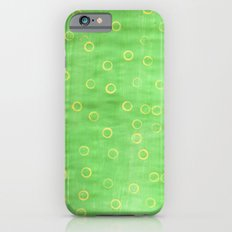 Green and yellow abstract painting Slim Case iPhone 6s