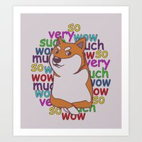 doge Art Prints featuring Doge  by Corinna Schlachter