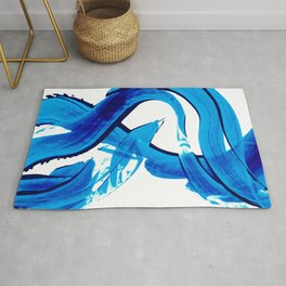 Pure Water 302 - Blue Abstract Art By Sharon Cummings Rug