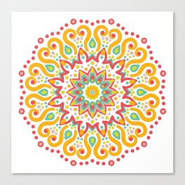 Mandala Seamless Pattern BURST Canvas Print