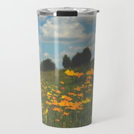 Dreaming in a Summer Field Travel Mug
