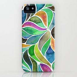 It's a Jungle Out There - Blue iPhone Case