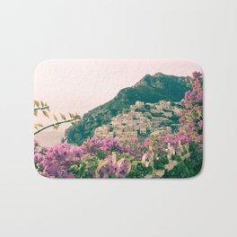Flowers in Positano, Italy on the Amalfi Coast Bath Mat