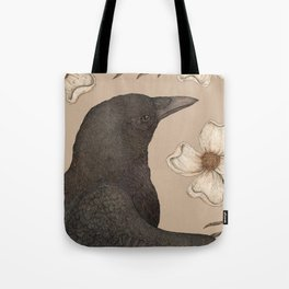 The Crow and Dogwoods Tote Bag