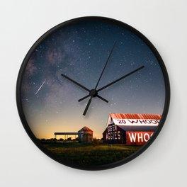 Aggie Barn by Night Wall Clock