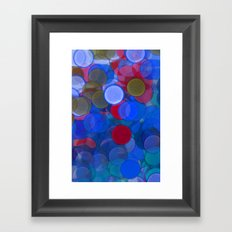 the study of lights. Framed Art Print