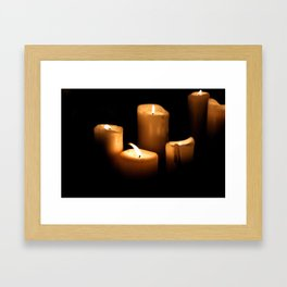 The Candlelight Vigil  Framed Art Print