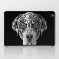 rottweiler iPad Cases featuring Ornate Rottweiler by Adrian Dominguez