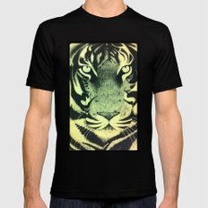 Be a Tiger (Yellow) Black Mens Fitted Tee MEDIUM