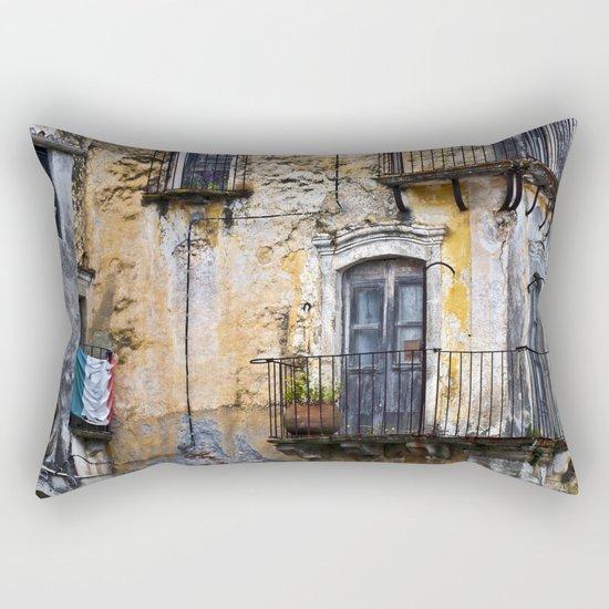 Urban Sicilian Facade Rectangular Pillow