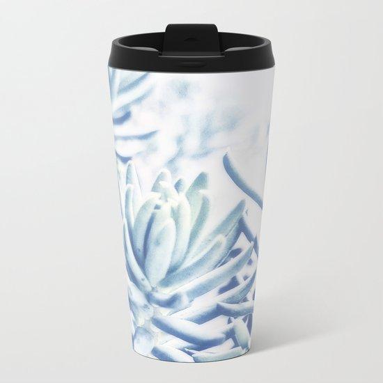 Sunday Morning Succulents Metal Travel Mug