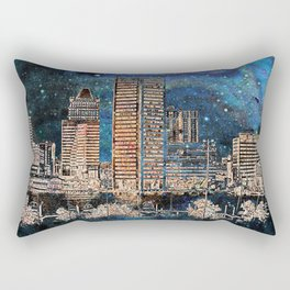 Starry night in Baltimore Rectangular Pillow