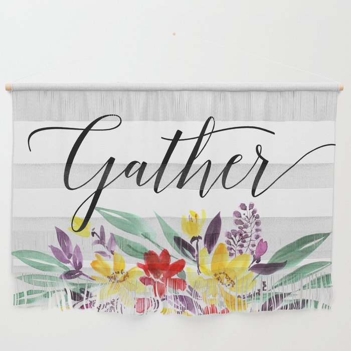 Gather floral Wall Hanging