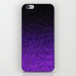 Purple & Black Glitter Gradient iPhone Skin