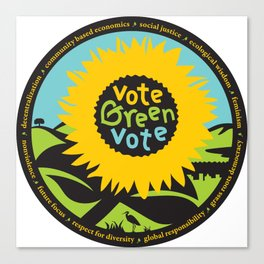 """Green Party Alameda County """"Vote Green"""" Canvas Print"""