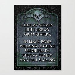 Grim Reaper Sexy Canvas Print