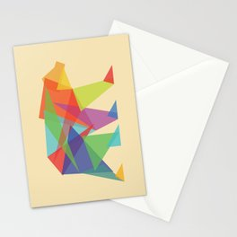 Fractal Geometric bear Stationery Cards