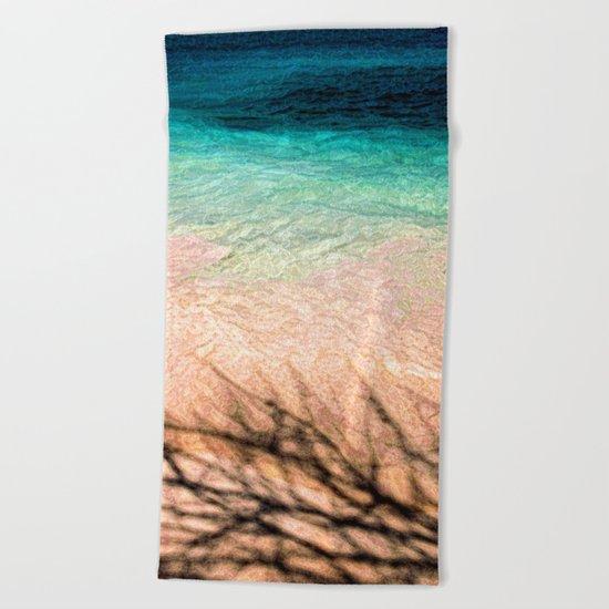 SEA AND TREE Beach Towel