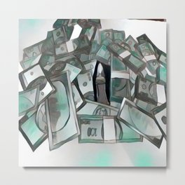 Counterfeit ice Metal Print