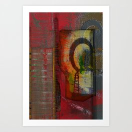 Oriental Projecting  Art Print