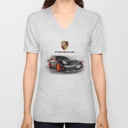 Cars: Porsche GT3 RS Unisex V-Neck
