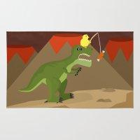 dinosaur Area & Throw Rugs featuring dinosaur by Nir P