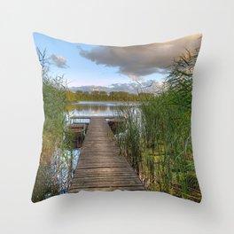 Idyllic Pier Of Heaven Cyprus Ultra HD Throw Pillow