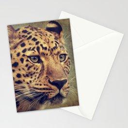 Leopard portrait Stationery Cards