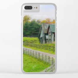 Autumn Barn Clear iPhone Case