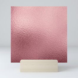 Pure Rose Gold Pink Mini Art Print