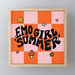 Emo Girl Summer Framed Mini Art Print
