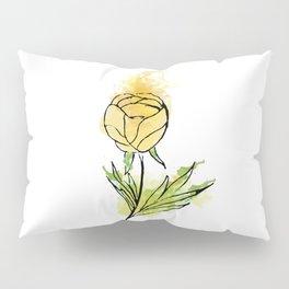 yellow abstract flower Pillow Sham