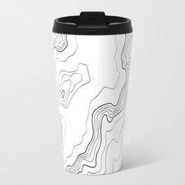 Mountains Topographic map Travel Mug