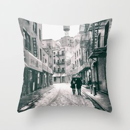 New York City - Snowy Afternoon - Chinatown Throw Pillow