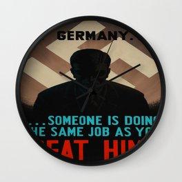 Vintage poster - World War II Propaganda Wall Clock