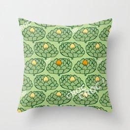 Artichoke GreenOrange Throw Pillow