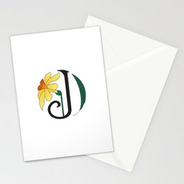 Ruby's Flower Initials - J Stationery Cards