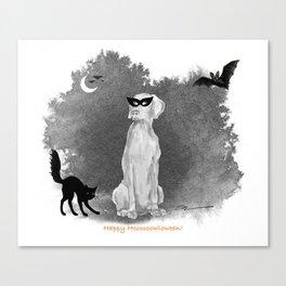 HOOOOOOWLOWEEN WEIMARANER Canvas Print