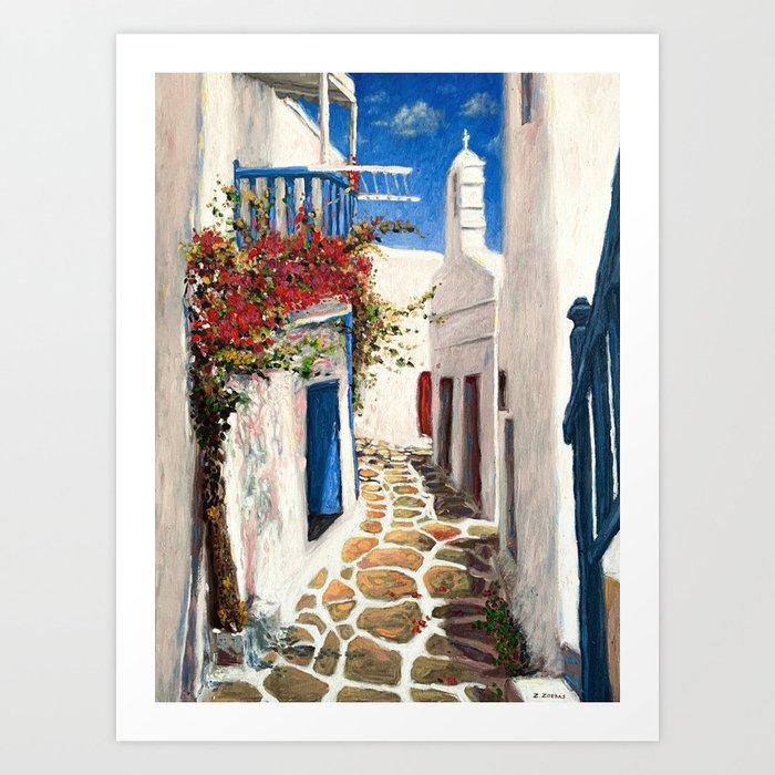Mykonos Town, Greece Art Print