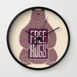 Free Hugs Bear Wall Clock