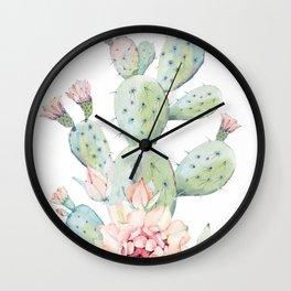 Cactus 3 White #society6 #buyart Wall Clock