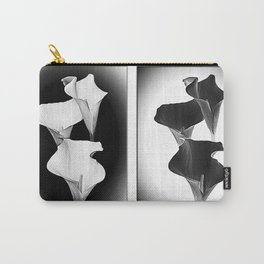 Calla Lillies. Black + White. Carry-All Pouch