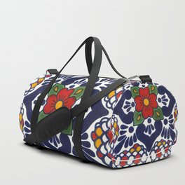talavera mexican tile pattern Duffle Bag