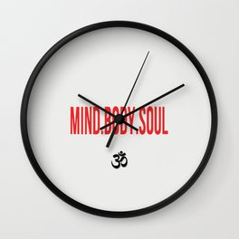 Mind.Body.Soul Wall Clock