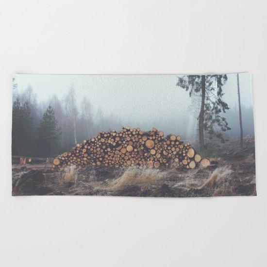 Firewood Beach Towel