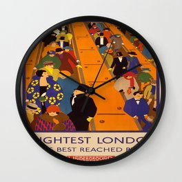 Vintage poster - Brightest London Wall Clock
