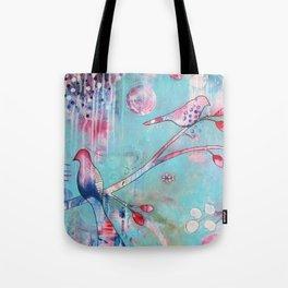 Sakura Birds Tote Bag