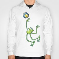volleyball Hoodies featuring Olympic Volleyball Frog by Zoo&co on Society6 Products