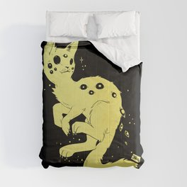 Cute Kawaii Spider Cat, Gothic Creepy Cute Art Comforters